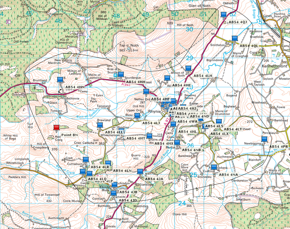 Map of the area served by mthe Trust