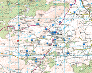 Map of the area served by the Trust